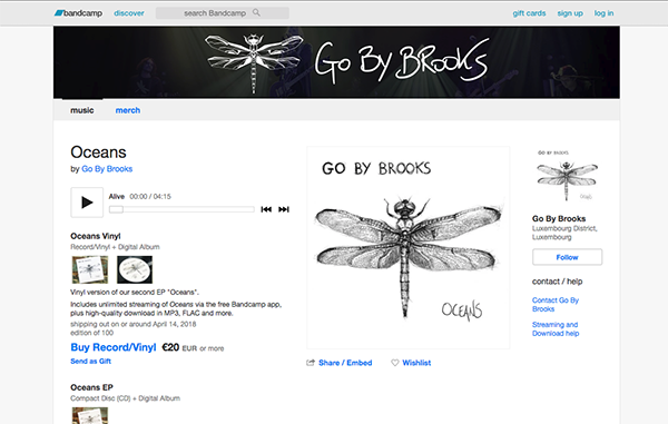 Go By Brooks Bancamp Page